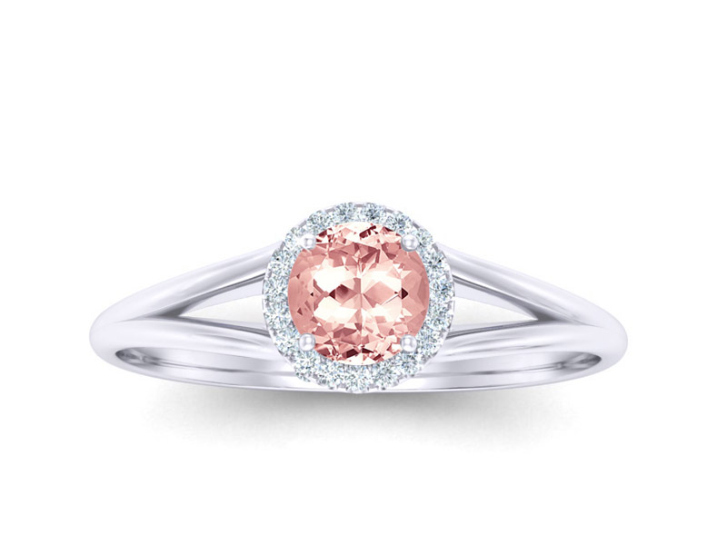 Split Halo Morganite