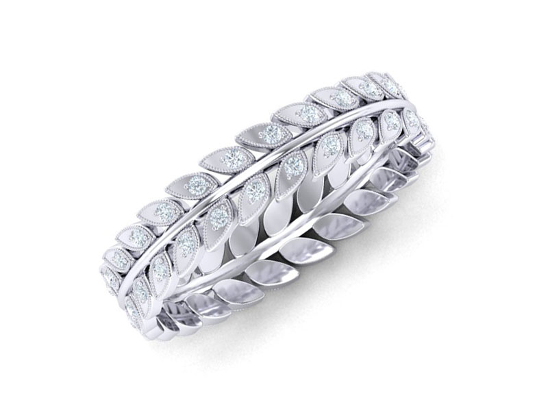 Diamond Corporation South Africa 7 Promise Rings Leaf Motif